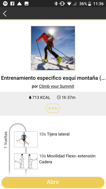 entrenamiento esqui de travesía